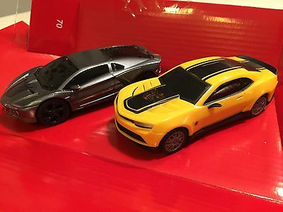 Carrera GO Transformers Bumblebee & Lockdown 1/43 Scale Slot Cars from set