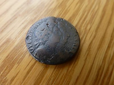 William and Mary 1694 Farthing Unbarred A's