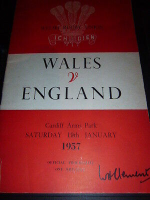 Wales V England Rugby Programme  1957 In Cardiff