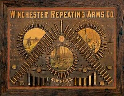 Winchester Repeating Arms TIN SIGN Metal Vintage Guns Rifles Ammo Poster Ad