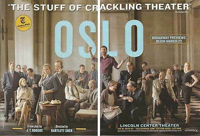 2016, 2 pg PRINT AD for Oslo Broadway theatre ADVERTISING PAGES