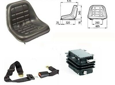 Cobo Gt50 Tractor Seat With Spring + Guides +  Safety Belts