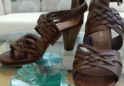 Real leather sandals eur 38 uk 6 -6.5