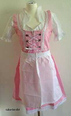 Germany,German,Trachten,Oktoberfest,Edelweiss,Dirndl Dress,3-pc.Sz.10,Pink.SALE