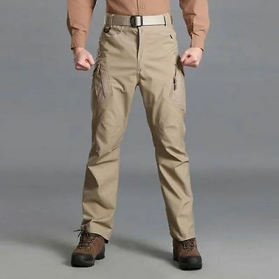 Mens Outdoor Pants Military Tactical Ripstop Combat Cargo Trousers Hunting IX9