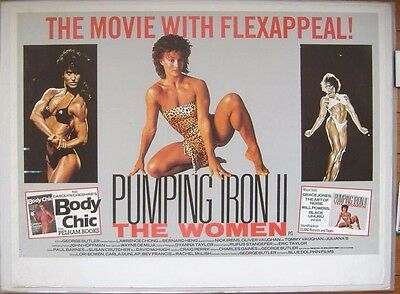 Pumping Iron II: The Women (1985) ORIGINAL ROLLED S/S 30 x 40 UK QUAD POSTER