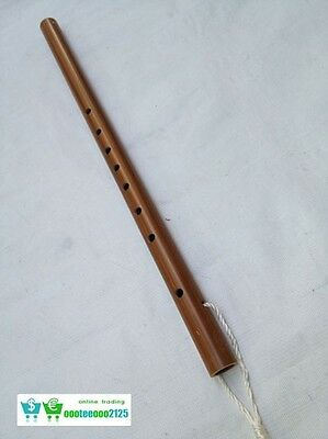 Thai Flute Woodwind Brown Laos Patern Music Professional Vintage Isan Instrument