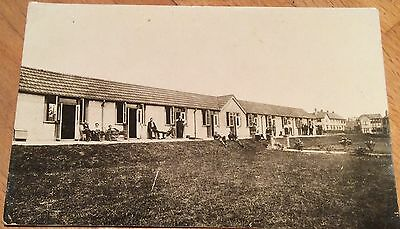 France - Vintage R.P.P.C of men outside huts? WW1 Circa early 1900's.