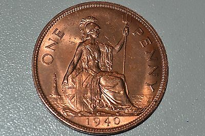 1940 King George VI Bronze One Penny H.G.