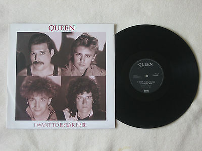 """Queen 'i Want To Break Free'  (Extended Mix) 12"""" Single 1984 In Vgc"""