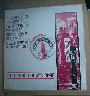 "The Jackson Sisters/urban All Stars/maceo And The Macks 4 Track 12"" 1979 Ex+"