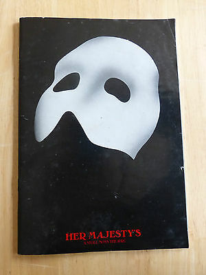 Phantom Of The Opera Program/postcard Her Majesty's Theatre London Early 90's