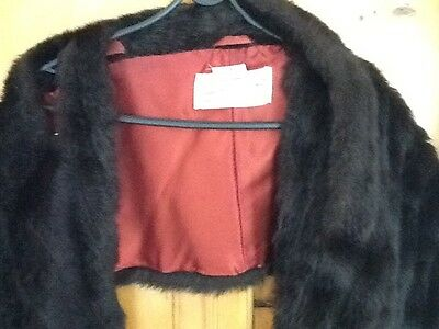 Faux fur stole.  vintage antique