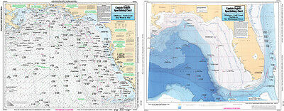Fishing Map Tampa Bay to Crystal River, FL TAM40-BC Gulf of Mexico