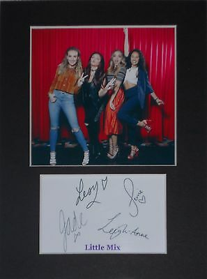 Little Mix  mounted autograph 8x6 printed photo display #A
