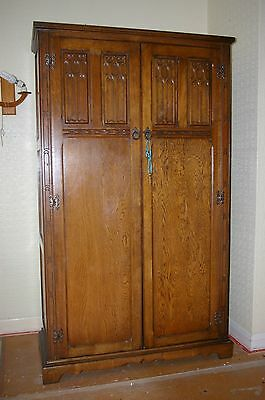 oak wardrobe old charm style art and crafts