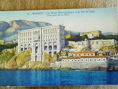 Old but unused postcard of Monaco