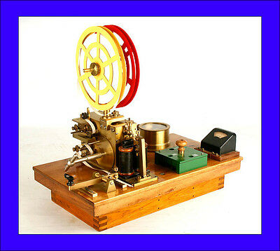 Antique Telegraph or Morse Station Made by Lorenz. Totally Restored. 1890