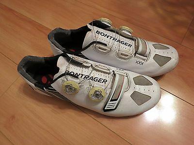 BONTRAGER XXX Carbon Sole Road Cycling Shoes BOA White Size 42 / 9 MSRP $399
