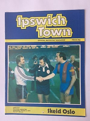 Ipswich Town v Skied Oslo UEFA Cup 1979