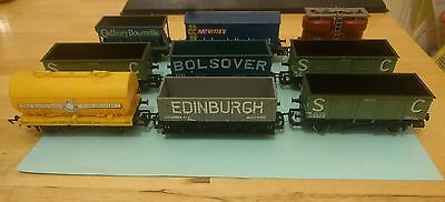 nine assorted hornby wagons