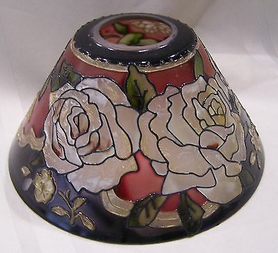 Joan Baker Designs Stained Glass Lamp Shade Roses