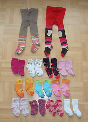 Lot Chaussettes Et Collants 19-22 - Socks And Pantyhoses Tights Baby Girl 19-22