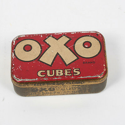 Vintage Oxo Cubes Tin - small 'Oxo' Cubes collectable vintage