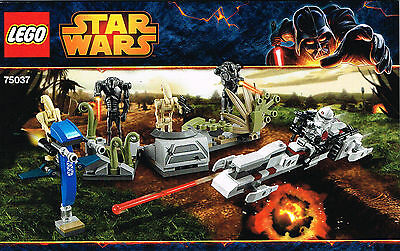 LEGO 75037 NEW Instruction Book for Battle on Saleucami Star Wars Booklet Manual