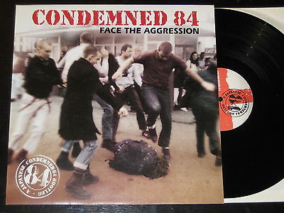 CONDEMNED 84 Face the aggresion LP Oi Punk ENGLAND combat Last Resort