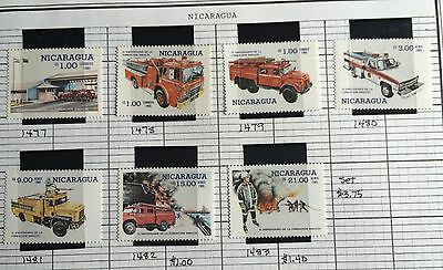 stamps fire department singly Nicaragua