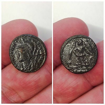 Rare Roman Bronze Coin, Unresearched 3rd Century A.D. (6)