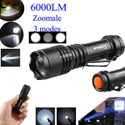 Lampe de poche 6000LM CREE Q5 AA / 14500 3 Modes Zoomable