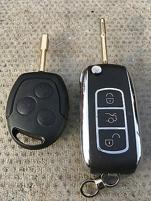 433Mhz 3 Button Remote Key Fob For Fiesta Fusion Transit/connect Id63 Chip