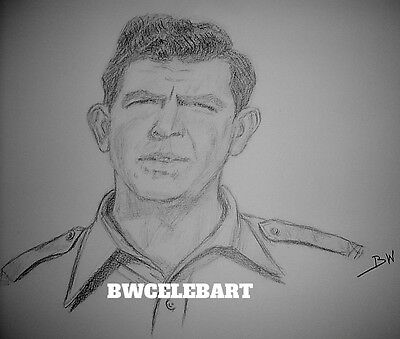 The Andy Griffith Show Graphite  Original Pencil Drawing Sheriff Andy Taylor