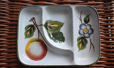 Vintage Radford Pottery Handpainted Sectioned Serving Dish