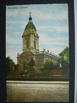 Used Colour Postcard Birmingham Cathedral