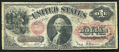 """Fr. 27 1878 $1 One Dollar """"Floral Seal"""" Legal Tender United States Note"""