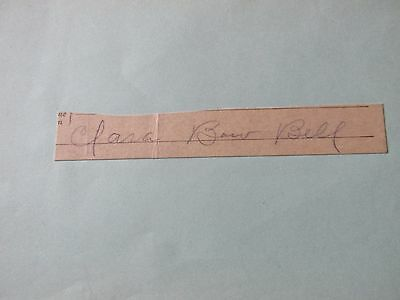Clara Bow Hand Signed In Pencil Cut (Rare Bow Bell) Offs Welcome