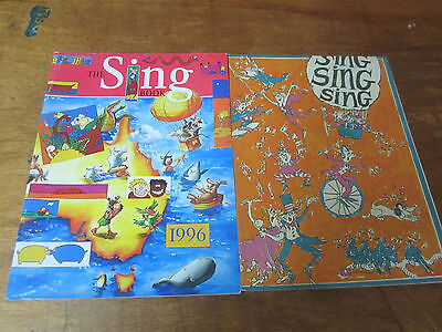 ABC Songbooks THE SING BOOK 1988 and 1996 Australian Broadcasting Corp.