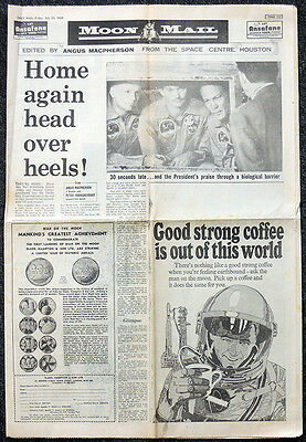 Daily Mail Original Newspaper Supplement 25 July 1969 Man On The Moon Apollo 11