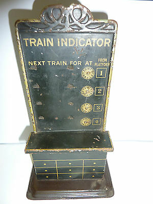 Rare Vintage Bing O Gauge Train / Platform Indicator