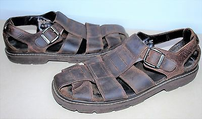 Columbia 'Crescent Path' Men's Size 12 Brown Leather Fisherman Sandals