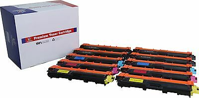 10Pk TN221 BK TN225 Color Toner For Brother MFC-9130CW, MFC-9330CDW, MFC-9340CDW
