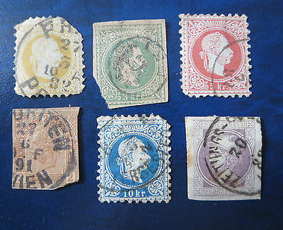 USED OLD AUSTRIA 1800's STAMP LOT.