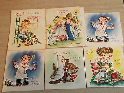 vintage pretty button greeting cards and others