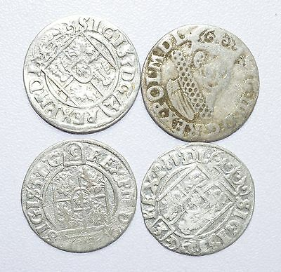 Scarce Lot Of 4  Medieval Silver Hammered Coins - Great Details - Z248