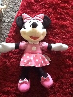 """Disney 12"""" Minnie Mouse Singing Plush Doll Fisher Price"""
