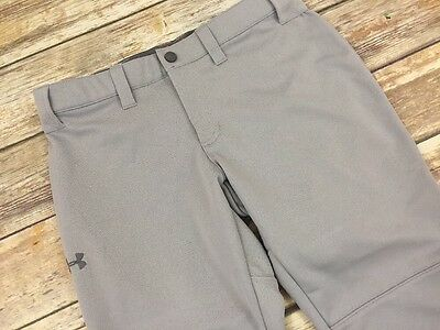 New Under Armour Softball Pants Size Small Gray Semi-Fitted Womens B2