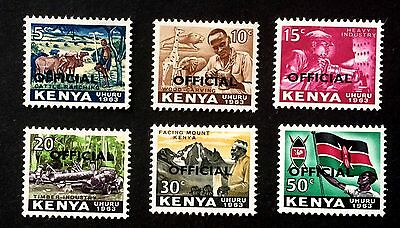 6 old official stamps Kenya